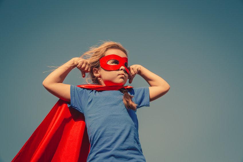 Kid as superhero
